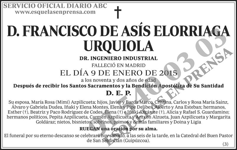 Francisco de Asís Elorriaga Urquiola